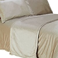 Mocha Soft Micro Fur Luxury King Size Bed Runner