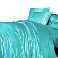 Tiffany Turquoise Satin Queen Quilt Cover Set
