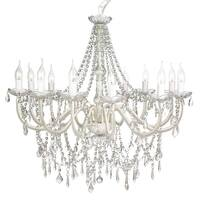 Large 12 Arm Crystal Chandelier in Clear Acrylic