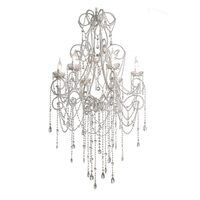 Anastasia Glass Crystal Chandelier with 6 Arms