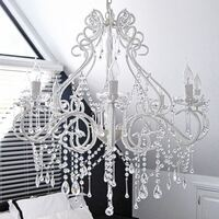 Florence Raindrop Crystal Chandelier with 8 Lights