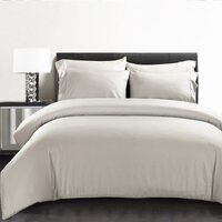 Bamboo Fibre King Quilt Cover Set in Silver 400TC