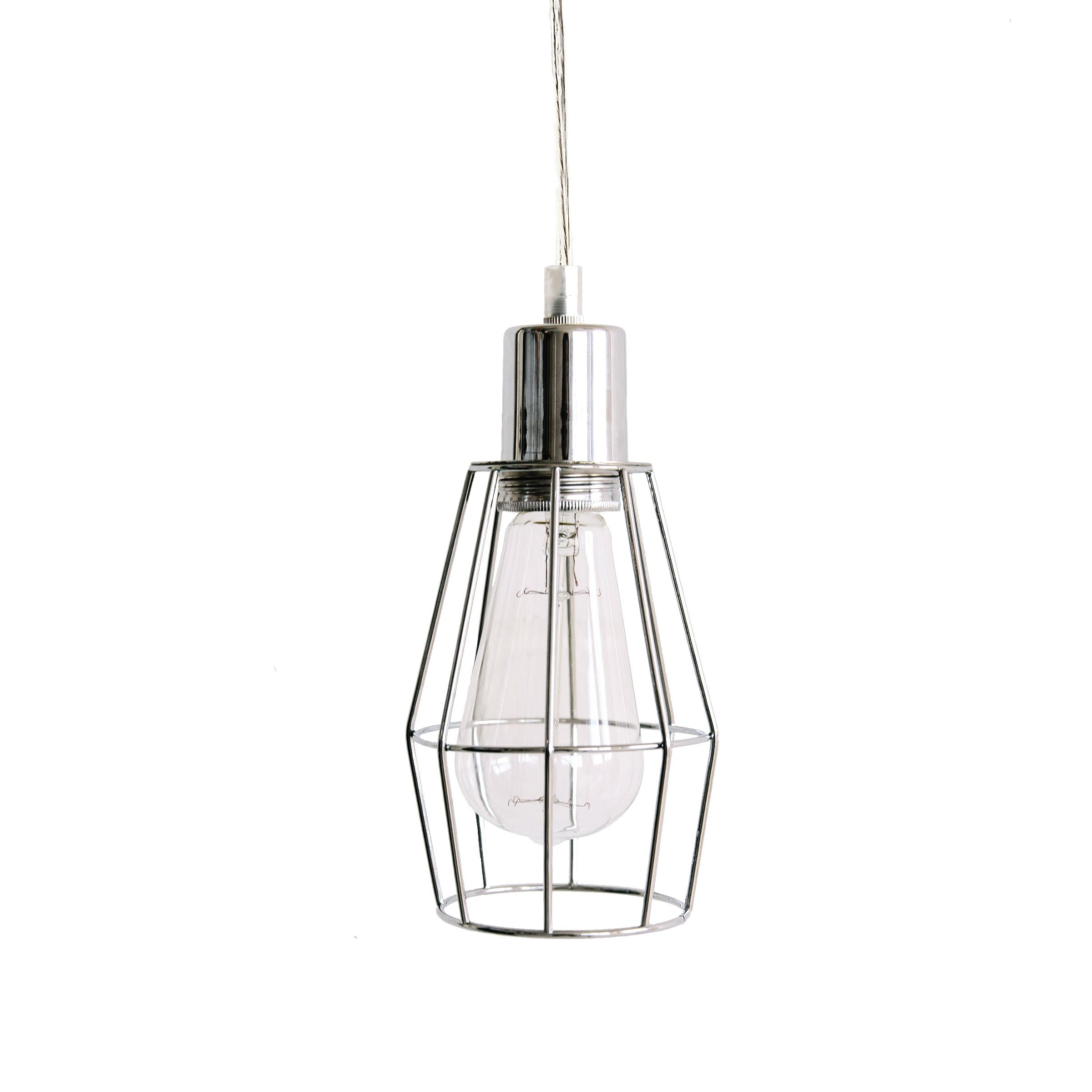 Industrial Cage Light - Chrome