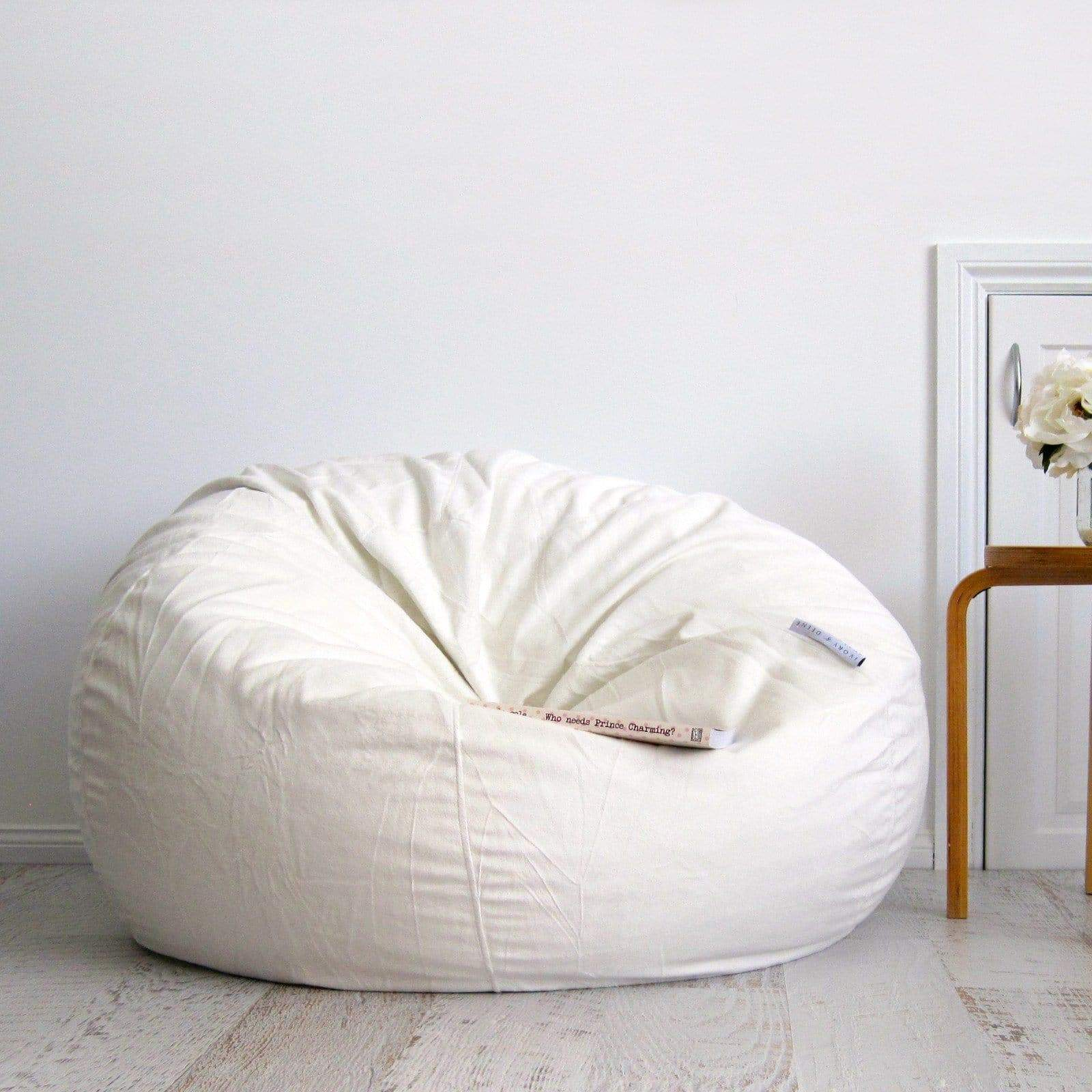 Pierre Fur Bean Bag Cream 2 Sizes Available Buy Bean