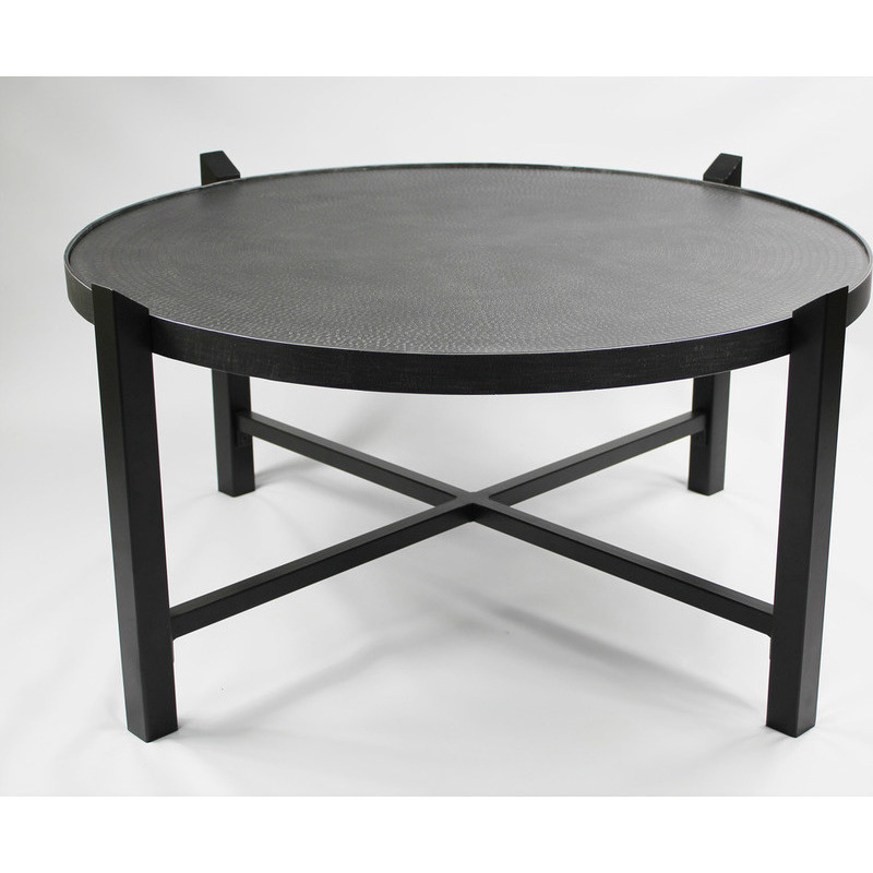 Wrought Iron Coffee Table With Drawers: Large Coffee Table Wrought Iron Engraved Steel Top