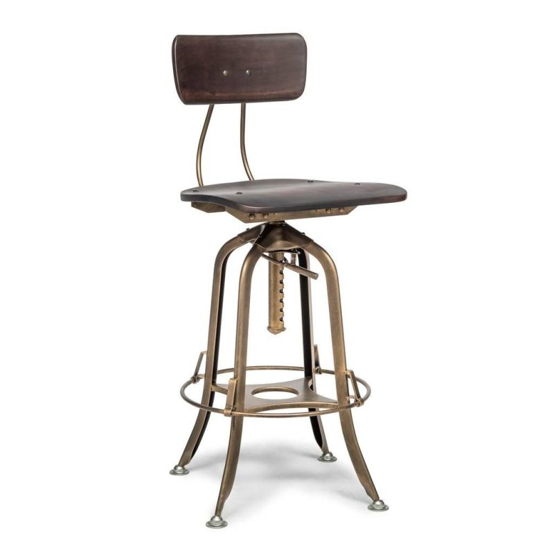 be675418246c h m s Remaining. Industrial Swivel Adjustable Height Bar Stool ...