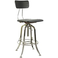 Vintage Toledo Black Adjustable Kitchen Bar Stool