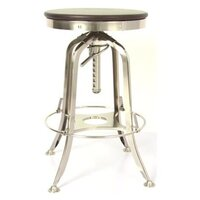 Vintage Toledo Wood and Iron Kitchen Bar Stool