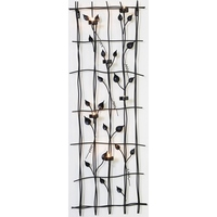 Wrought Iron Wall Art with 6 Candle Light Holders