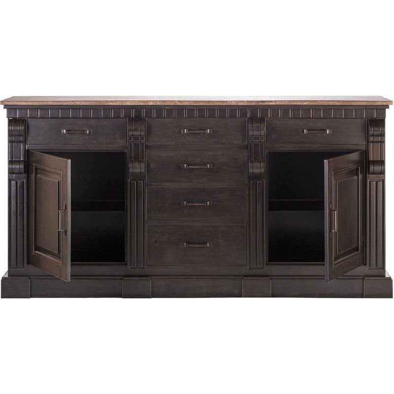 Iron Amp Wood Sideboard Buffet In Copper Black 203cm Buy