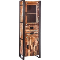 Iron & Reclaimed Wood Rustic Display Cabinet 185cm