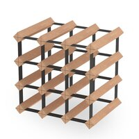 12 Bottle Wine Rack Storage System Pinewood Timber