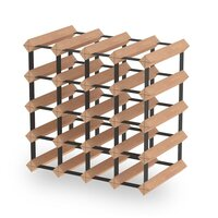 20 Bottle Wine Rack Storage System Pinewood Timber