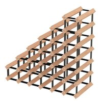 27 Bottle Sloped Staircase Timber Wine Storage Rack