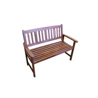 Outdoor 2 Seat Wooden Garden Chair Park Bench