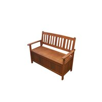 Outdoor Shorea Hardwood Wooden Storage Bench Seat