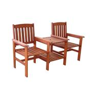Wooden Jack and Jill Outdoor Chairs with Side Table