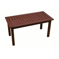 Wooden Outdoor Coffee Table Rectangular 90x45cm