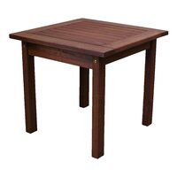Wooden Outdoor End Side Table Square 45cm
