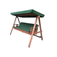 Outdoor Swing Chair Bench & Bed w/ Canopy & Cushion