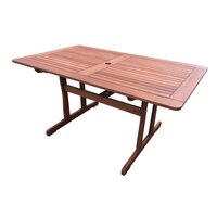 Tropical Wood Outdoor Dining Table Rectangular 1.5m
