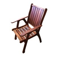 2x Summer Armchairs Wooden Outdoor Chairs