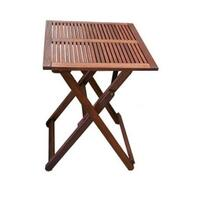 Wooden Outdoor Dining Table Square 60cm Foldable