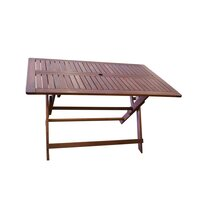 Island Foldable Hardwood Outdoor Dining Table 1.35m