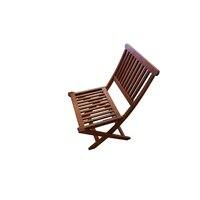 2x Island Wooden Outdoor Dining Chairs Foldable