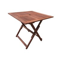 Square Foldable Wooden Outdoor Dining Table 80cm