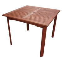 Tropical Outdoor Wooden Square Dining Table 80cm