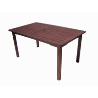 Malay Wooden Outdoor Rectangular Dining Table 150cm