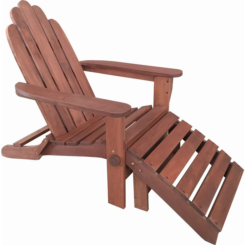 Outdoor Lounge Zanui: Outdoor Shorea Wood Adirondack Chair W/ Footstool