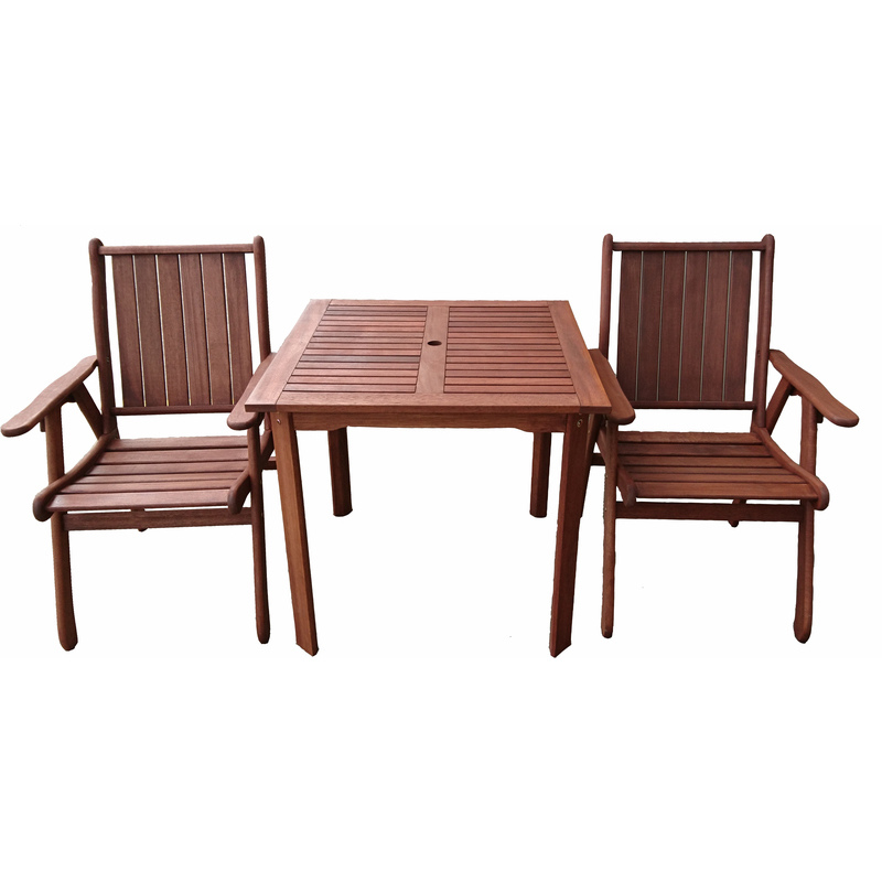 3pc wooden outdoor dining table chair set 80cm buy 2 for 12 seater wooden outdoor table