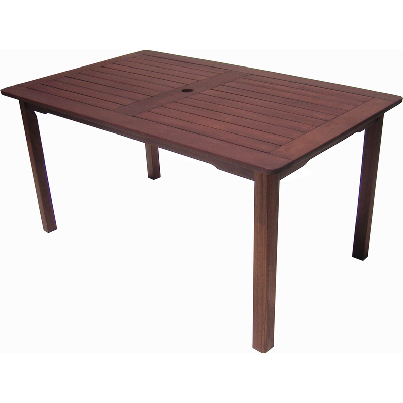 Buy Dining Tables: Malay Wooden Outdoor Rectangular Dining Table 150cm