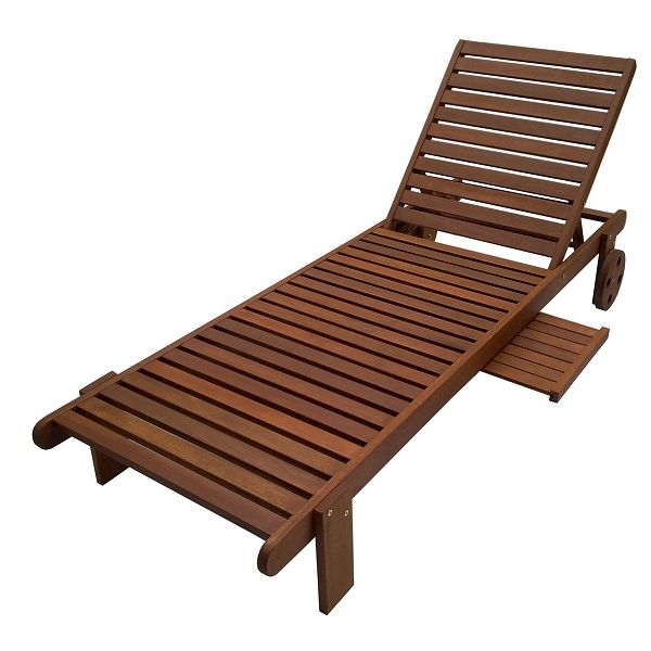outdoor garden sun lounger with wooden tray table buy. Black Bedroom Furniture Sets. Home Design Ideas