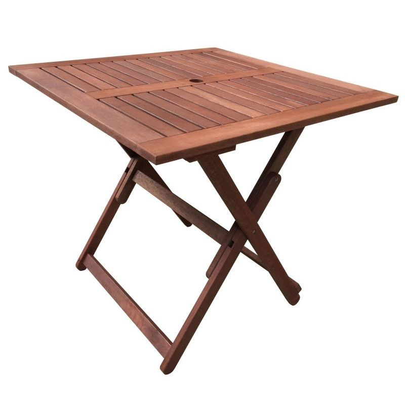 Square Foldable Wooden Outdoor Dining Table 80cm Buy SALE