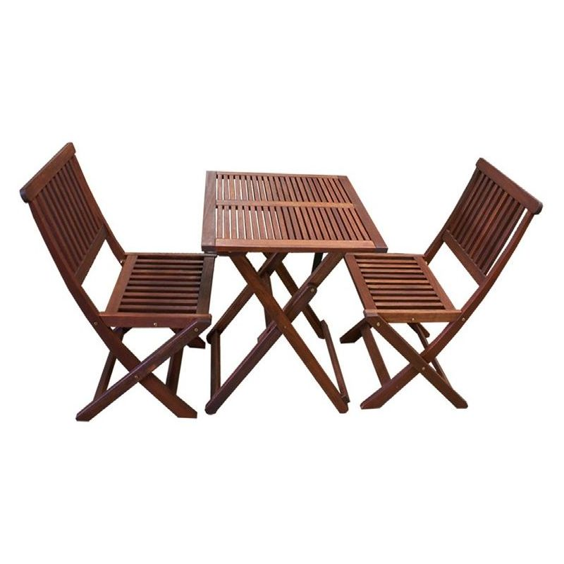 3pc Outdoor Dining Table And Chairs Set Foldable Buy 2