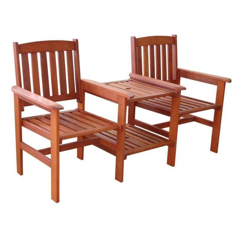 Wooden Jack And Jill Outdoor Chairs With Side Table Buy Jack Jill Seats