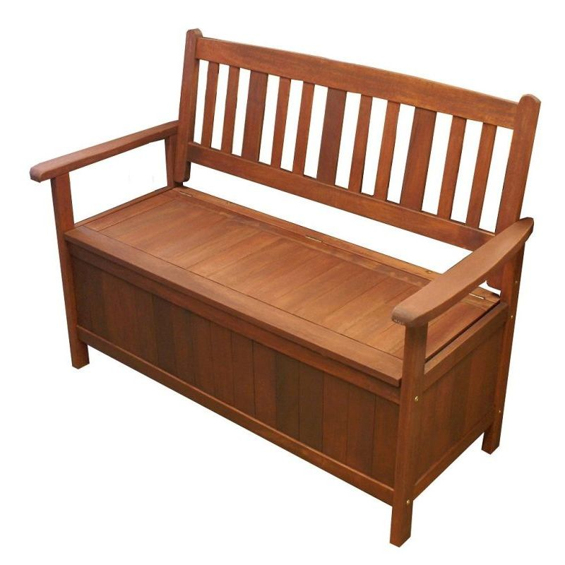Outdoor shorea hardwood wooden storage bench seat buy outdoor benches Storage bench outdoor