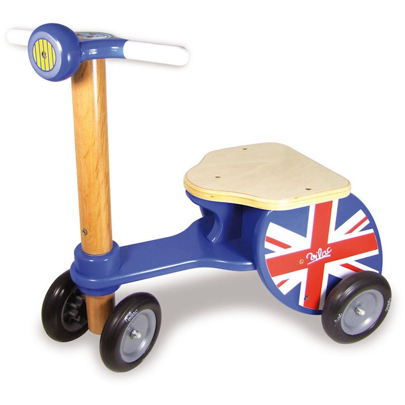 Vilac Kids Push Ride On Scooter Union Jack Tricycle