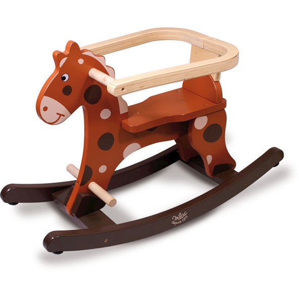 Vilac Kids My First Brown Rocking Horse with Hoop