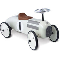 Vilac Kid's Push Ride On Classic Race Car in White