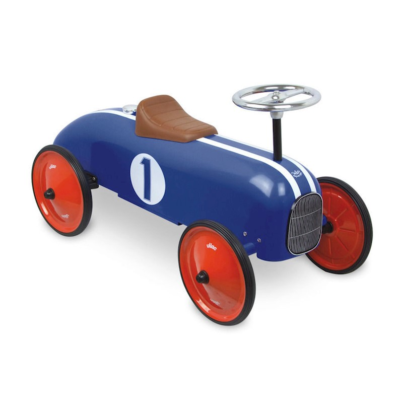 Vilac Kid's Push Ride On Classic Race Car in Blue