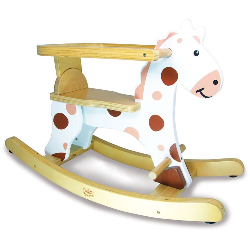 Vilac Kids My First White Rocking Horse with Hoop