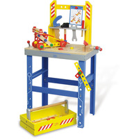 Vilac Kids Large Wooden Toy Workbench w/ Tools