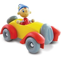 Vilac Kid's Noddy in his Car Bobble Head Wooden Toy
