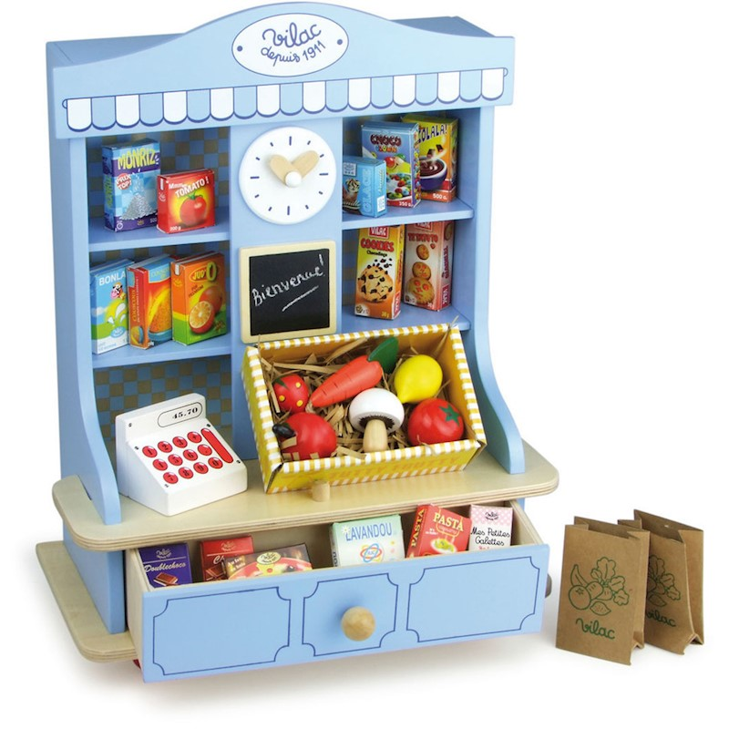 Vilac Kids Small Play Grocery Store w Accessories