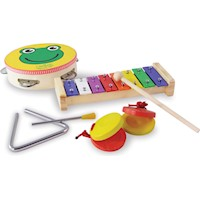 Vilac Kid's Musical Instruments 4 Toy Play Set