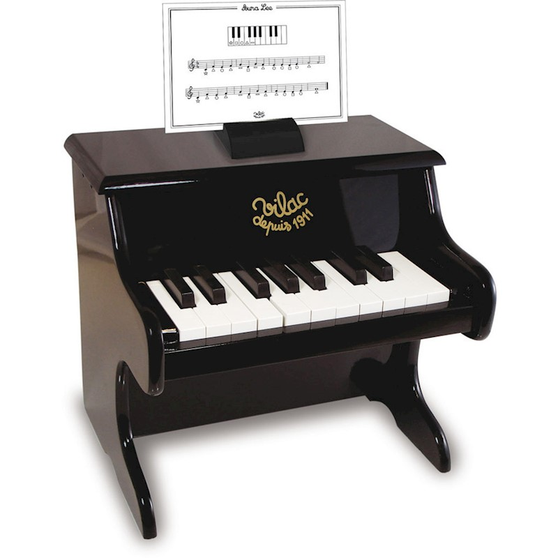 Vilac Kid's 18 Key Musical Toy Piano w Sheet Music